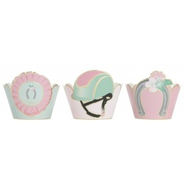 CUPCAKE WRAPPERS CHEVAL X 6