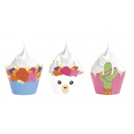 CUPCAKES WRAPPERS FRIDA LAMA X6